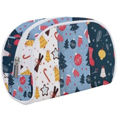 Christmas Pattern Collection Flat Design Makeup Case (large)