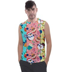 Hand Drawn Christmas Pattern Collection Men s Regular Tank Top