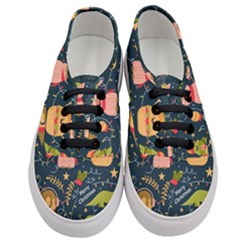 Colorful Funny Christmas Pattern Merry Christmas Xmas Women s Classic Low Top Sneakers