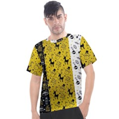 Black Golden Christmas Pattern Collection Men s Sport Top