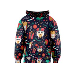 Colorful Funny Christmas Pattern Cute Cartoon Kids  Pullover Hoodie