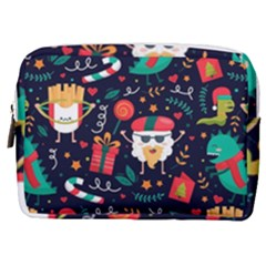 Colorful Funny Christmas Pattern Cute Cartoon Make Up Pouch (medium)