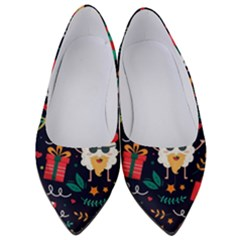 Colorful Funny Christmas Pattern Cute Cartoon Women s Low Heels