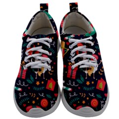 Colorful Funny Christmas Pattern Cute Cartoon Mens Athletic Shoes