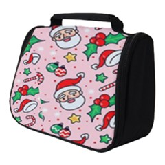 Colorful Funny Christmas Pattern Santa Claus Full Print Travel Pouch (small)