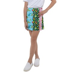 Flat Design Christmas Pattern Collection Kids  Tennis Skirt