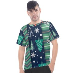 Flat Design Christmas Pattern Set Men s Sport Top