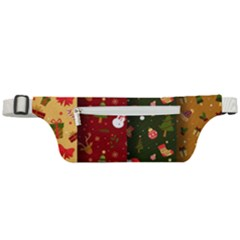 Hand Drawn Christmas Pattern Collection Active Waist Bag