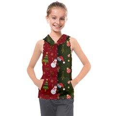 Hand Drawn Christmas Pattern Collection Kids  Sleeveless Hoodie