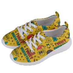 Colorful Funny Christmas Pattern Cool Ho Ho Ho Lol Women s Lightweight Sports Shoes by Vaneshart