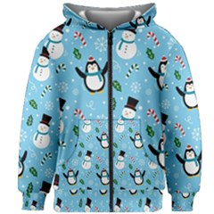 Colorful Funny Christmas Pattern Cartoon Kids  Zipper Hoodie Without Drawstring by Vaneshart