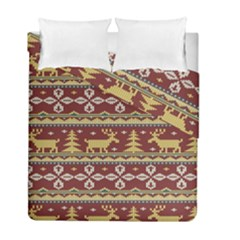 Beautiful Knitted Christmas Pattern Xmas Duvet Cover Double Side (full/ Double Size) by Vaneshart