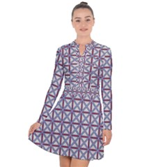 Df Donos Grid Long Sleeve Panel Dress by deformigo