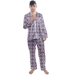 Df Donos Grid Men s Satin Pajamas Long Pants Set by deformigo