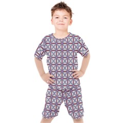 Df Donos Grid Kids  Tee And Shorts Set by deformigo