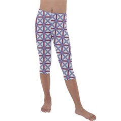 Df Donos Grid Kids  Lightweight Velour Capri Leggings
