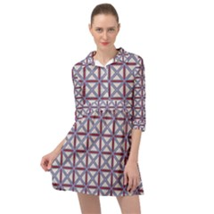Df Donos Grid Mini Skater Shirt Dress by deformigo
