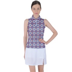 Df Donos Grid Women s Sleeveless Polo Tee by deformigo