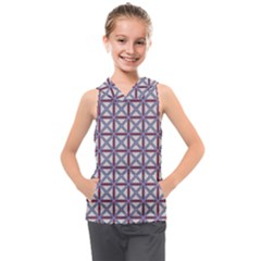 Df Donos Grid Kids  Sleeveless Hoodie by deformigo