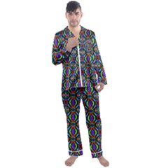 Ab 169 Men s Satin Pajamas Long Pants Set by ArtworkByPatrick