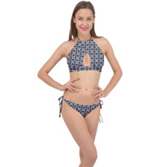 Df Alhambrine Cetta Cross Front Halter Bikini Set by deformigo