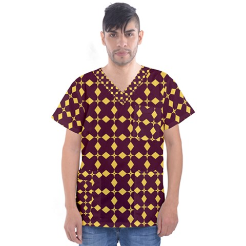 Df Riona Eclance Men s V Neck Scrub Top by deformigo