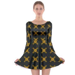 Df Ikonos Quanika Long Sleeve Skater Dress by deformigo
