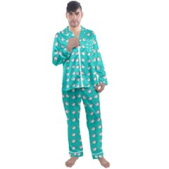 Big Apples Of Peace Men s Satin Pajamas Long Pants Set by pepitasart