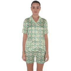 Df Codenoors Zimber Satin Short Sleeve Pyjamas Set by deformigo