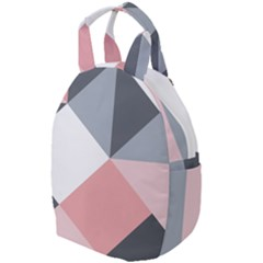 Pink, Gray, And White Geometric Travel Backpacks by mccallacoulture