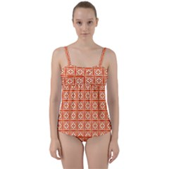 Df Union Valenti Twist Front Tankini Set