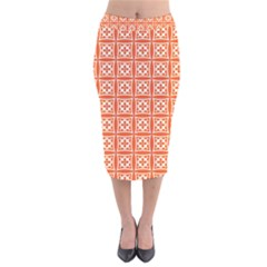 Df Agnosia Montamino Velvet Midi Pencil Skirt by deformigo