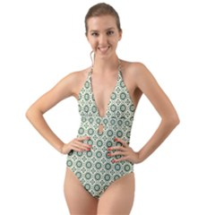 Df Agnosia Velis Halter Cut Out One Piece Swimsuit by deformigo