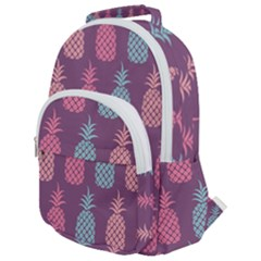 Pineapple Wallpaper Pattern 1462307008mhe Rounded Multi Pocket Backpack