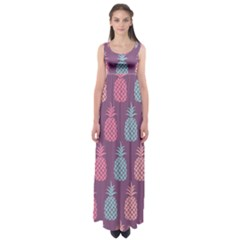 Pineapple Wallpaper Pattern 1462307008mhe Empire Waist Maxi Dress