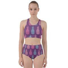 Pineapple Wallpaper Pattern 1462307008mhe Racer Back Bikini Set