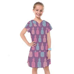 Pineapple Wallpaper Pattern 1462307008mhe Kids  Drop Waist Dress