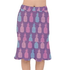 Pineapple Wallpaper Pattern 1462307008mhe Short Mermaid Skirt