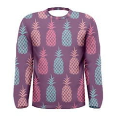 Pineapple Wallpaper Pattern 1462307008mhe Men s Long Sleeve Tee