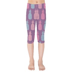 Pineapple Wallpaper Pattern 1462307008mhe Kids  Capri Leggings