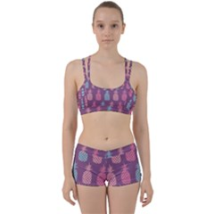 Pineapple Wallpaper Pattern 1462307008mhe Perfect Fit Gym Set