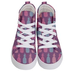 Pineapple Wallpaper Pattern 1462307008mhe Kids  Hi Top Skate Sneakers