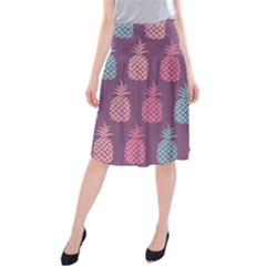 Pineapple Wallpaper Pattern 1462307008mhe Midi Beach Skirt