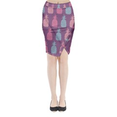 Pineapple Wallpaper Pattern 1462307008mhe Midi Wrap Pencil Skirt