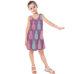 Pineapple Wallpaper Pattern 1462307008mhe Kids  Sleeveless Dress