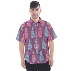Pineapple Wallpaper Pattern 1462307008mhe Men s Short Sleeve Shirt