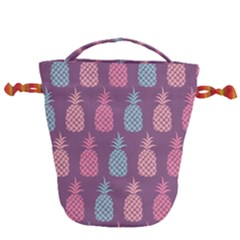 Pineapple Wallpaper Pattern 1462307008mhe Drawstring Bucket Bag
