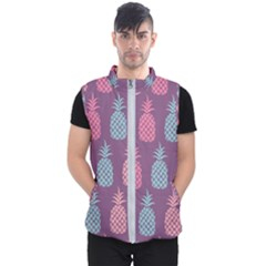 Pineapple Wallpaper Pattern 1462307008mhe Men s Puffer Vest