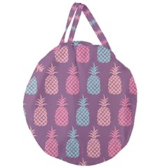 Pineapple Wallpaper Pattern 1462307008mhe Giant Round Zipper Tote