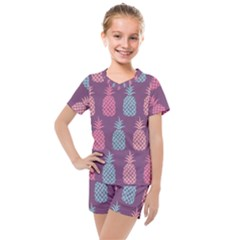Pineapple Wallpaper Pattern 1462307008mhe Kids  Mesh Tee And Shorts Set